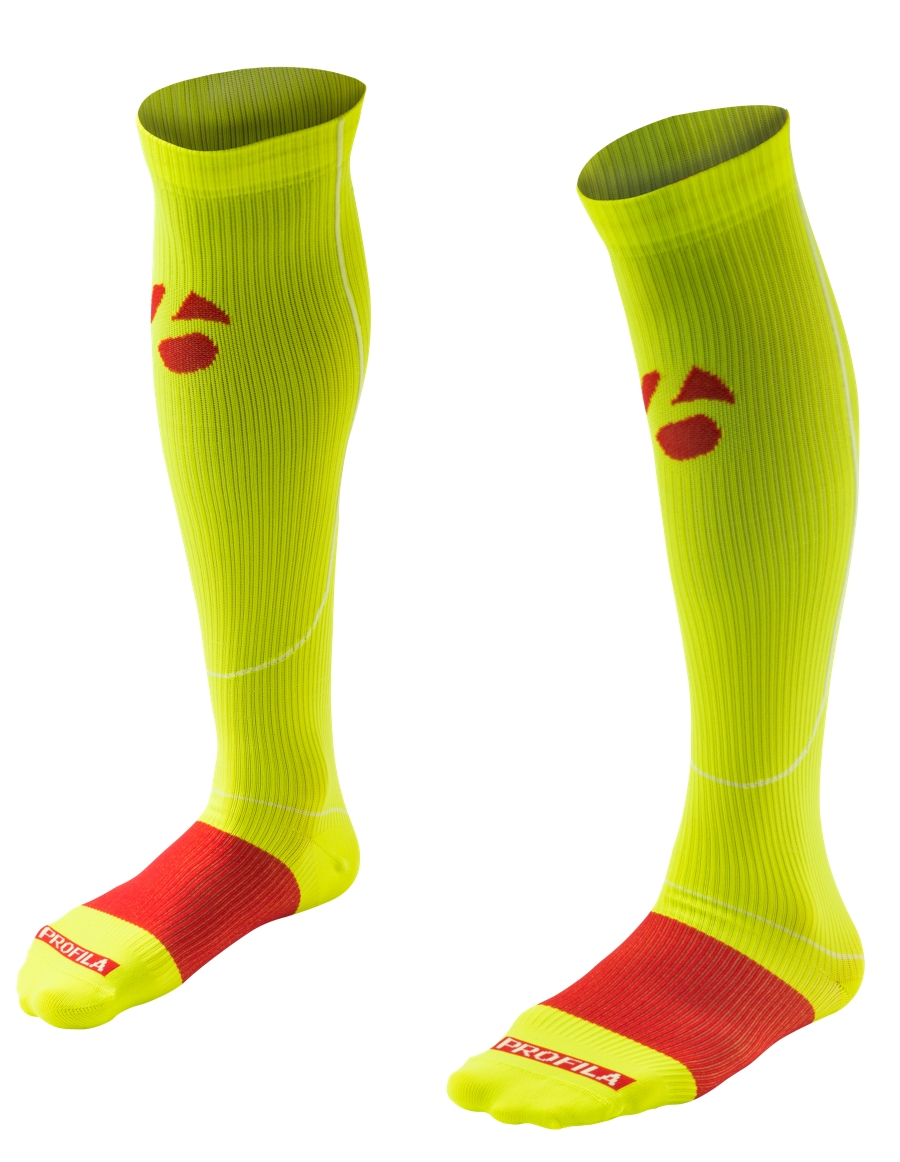 Bontrager Socke RXL Recovery Compression L (43-45) Vis YL - Bontrager Socke RXL Recovery Compression L (43-45) Vis YL