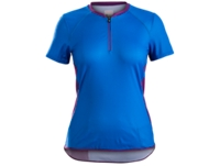 Bontrager Trikot Evoke Womens XS Waterloo Blue/Lotus - Bike Maniac