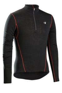 Bontrager Funktionswäsche B3 1/4 Zip Long Sleeve XS Black - Bike Maniac