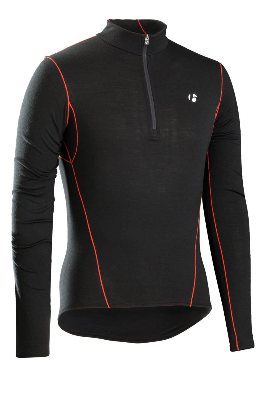 Bontrager Funktionswäsche B3 1/4 Zip Long Sleeve M Black - Bontrager Funktionswäsche B3 1/4 Zip Long Sleeve M Black