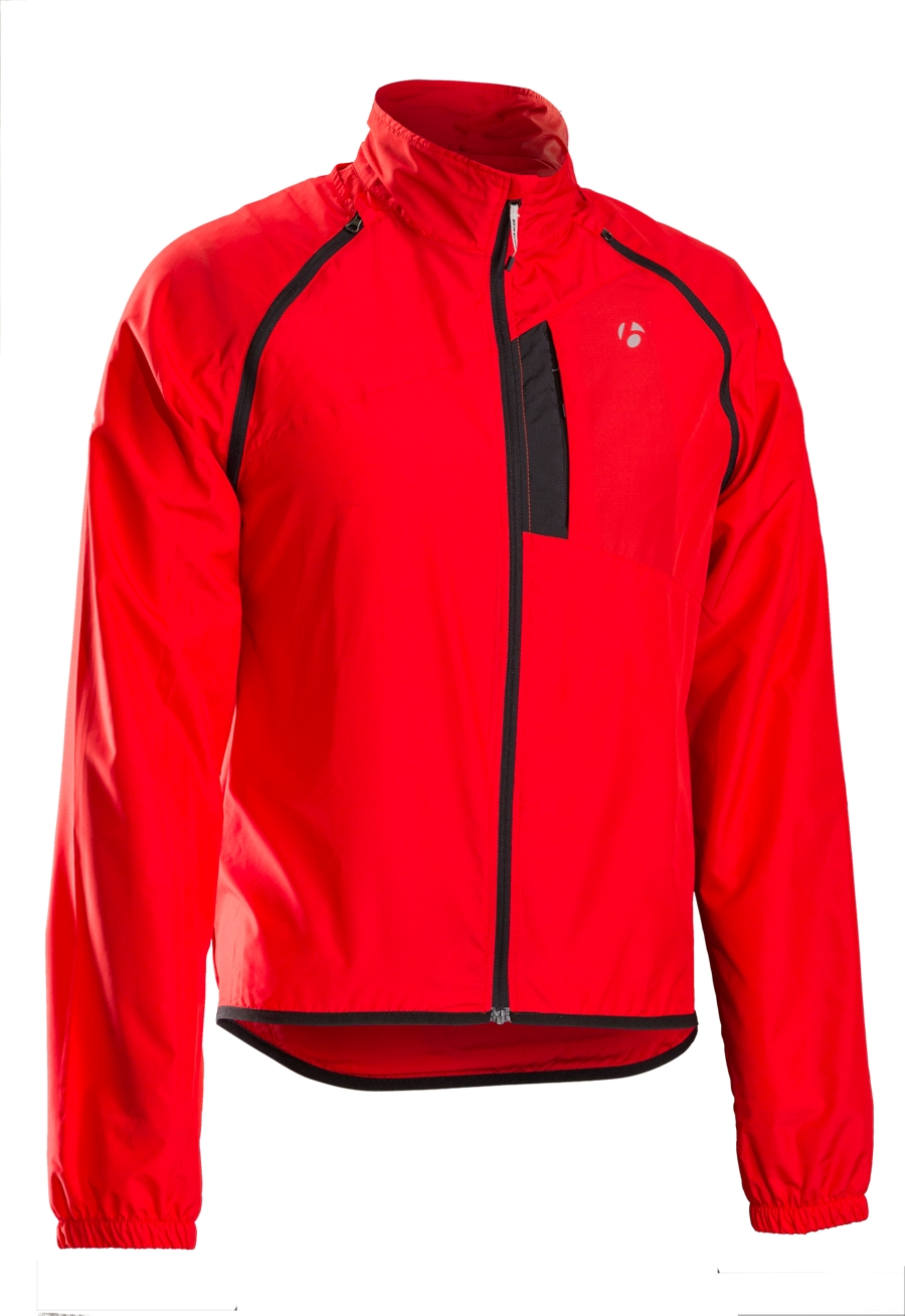 Bontrager Jacke Race Convertible Windshell L Red - Bontrager Jacke Race Convertible Windshell L Red