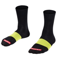 Bontrager Socke Race 13cm Wool S (36-39) Black/Smoke - Bike Maniac