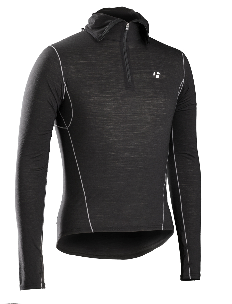 Bontrager Funktionswäsche B2 Hooded Long Sleeve L Black - Bontrager Funktionswäsche B2 Hooded Long Sleeve L Black