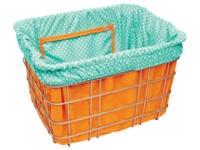 Electra Basket Part Liner Orange/Light Blue Polka Dots - Bike Maniac