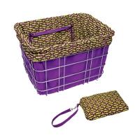 Electra Basket Part Liner Purple/Ovals - Bike Maniac
