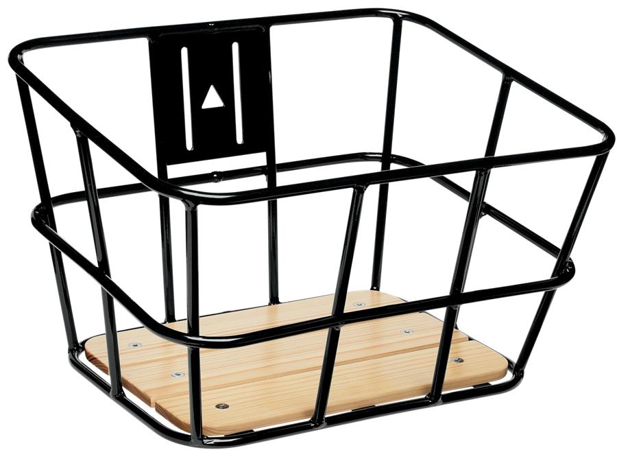 Electra Basket Alloy-Wood Black Front - Electra Basket Alloy-Wood Black Front