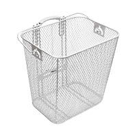 Electra Basket Steel Mesh Rack Pan Silver Rear - Bike Maniac