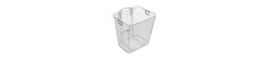 Electra Basket Steel Mesh Rack Pan Silver Rear - Electra Basket Steel Mesh Rack Pan Silver Rear