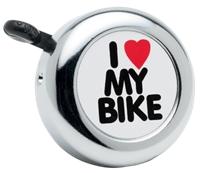 Electra Bell I Love My Bike Chrome - Bike Maniac