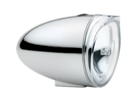 Electra Light Bullet LED Silver Front - Bike Maniac