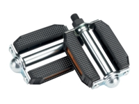 Electra Pedal Deluxe Block 1/2in Spindle Chrome/Black - Bike Maniac