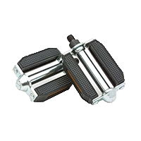 Electra Pedal Deluxe Block 9/16in Spindle Chrome/Black - Bike Maniac