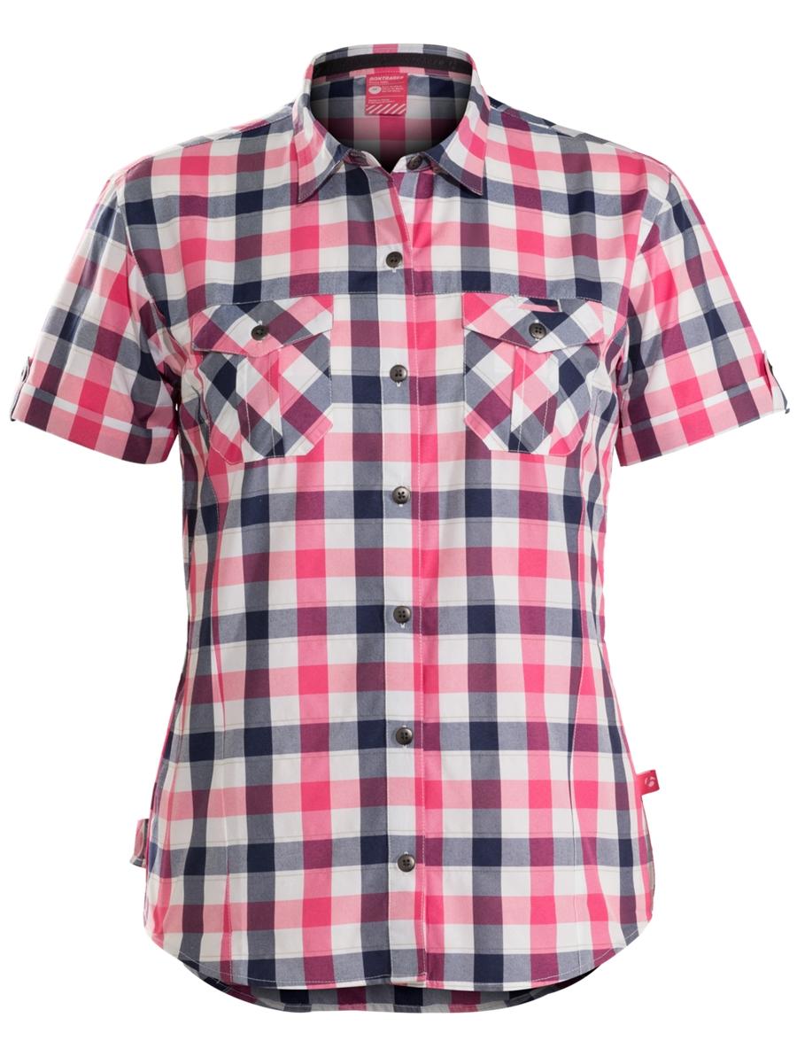 Bontrager Shirt Path Woven Womens S Pink/Navy - Bontrager Shirt Path Woven Womens S Pink/Navy