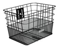 Electra Basket Cruiser Steel Wire Mesh Black Front - schneider-sports