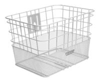 Electra Basket Cruiser Steel Wire Mesh Silver Front - schneider-sports