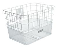Electra Basket Cruiser Steel Wire Mesh White Front - schneider-sports