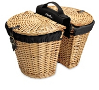 Electra Basket Wicker w/Liners Natural Rear - Bike Maniac