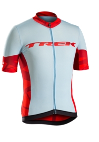 Bontrager Jersey Ballista X-Large Powder Blue/Trek Red - Bike Maniac