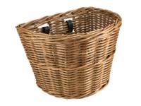 Electra Basket Cruiser Wicker Natural Front - 2-Rad-Sport Wehrle