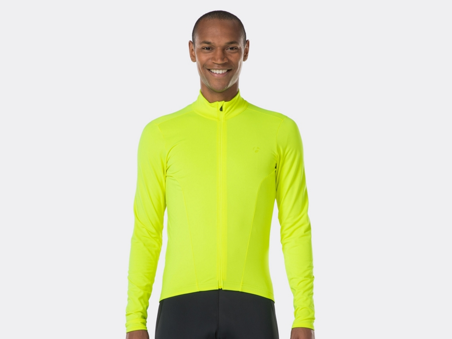 Bontrager Jersy Velocis Thermal LS Large Fluorescent YL - Bontrager Jersy Velocis Thermal LS Large Fluorescent YL