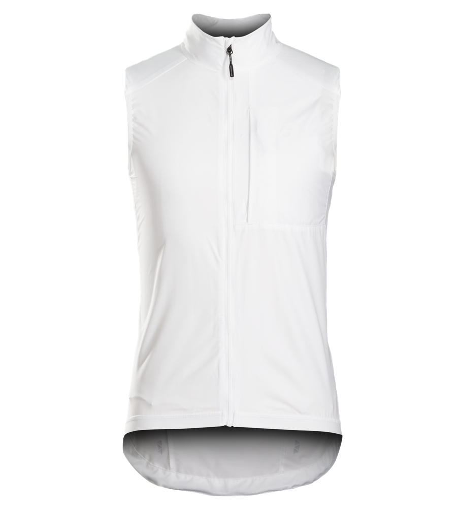 Bontrager Vest Circuit Windshell Medium White - Bontrager Vest Circuit Windshell Medium White
