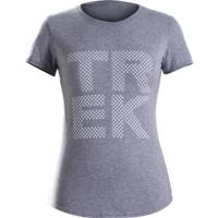 Shirt Trek Polka Dot T-Shirt Women M Grey - Bike Maniac