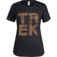 Shirt Trek Polka Dot T-Shirt Women XXL Black - Bike Maniac