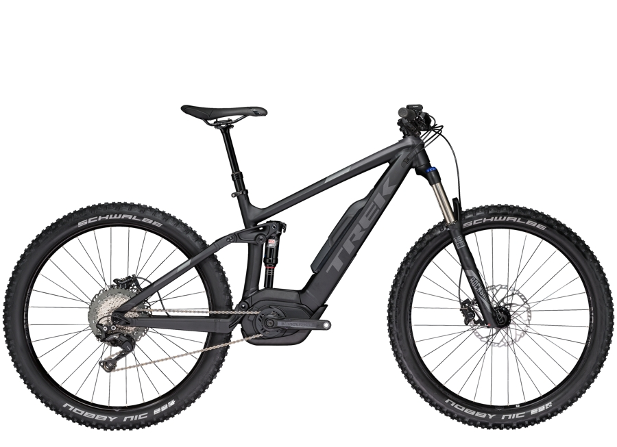 Trek Powerfly 7 FS Plus 18.5 Matte Trek Black/Solid Charcoal - Trek Powerfly 7 FS Plus 18.5 Matte Trek Black/Solid Charcoal