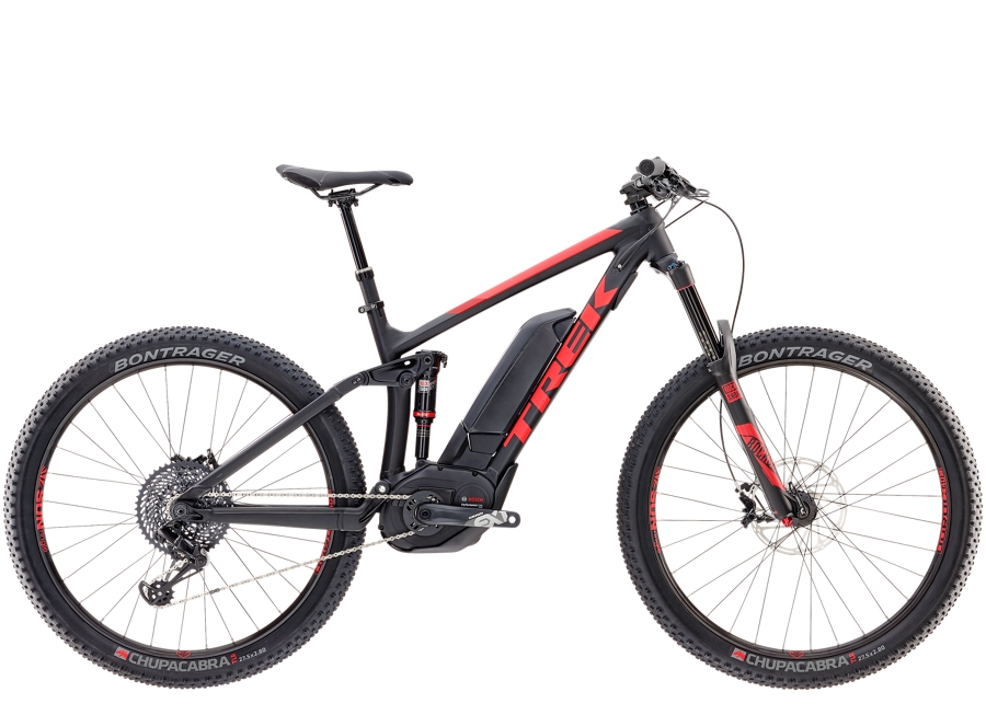 Trek Powerfly 9 LT Plus 18.5 Matte Trek Black/Viper Red - Trek Powerfly 9 LT Plus 18.5 Matte Trek Black/Viper Red