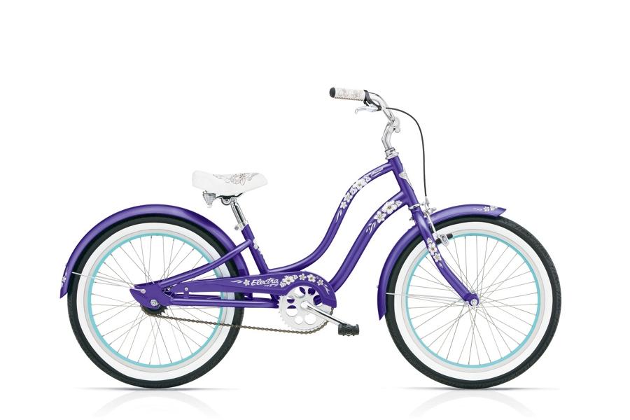 Electra Hawaii 1 20in Girls 20 wheel Purple Metallic - Electra Hawaii 1 20in Girls 20 wheel Purple Metallic