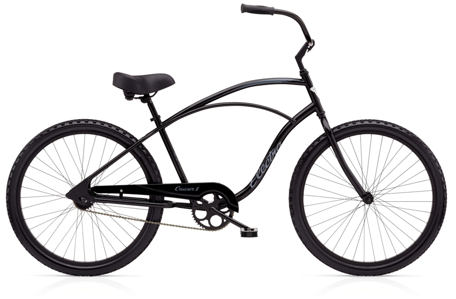 Electra Cruiser 1 24in Mens 24 wheel Black Stain - Electra Cruiser 1 24in Mens 24 wheel Black Stain