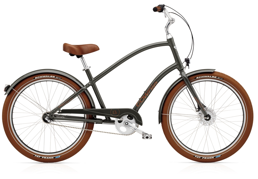 Electra Townie Balloon 7i EQ Mens 26 wheel Army Grey - Electra Townie Balloon 7i EQ Mens 26 wheel Army Grey