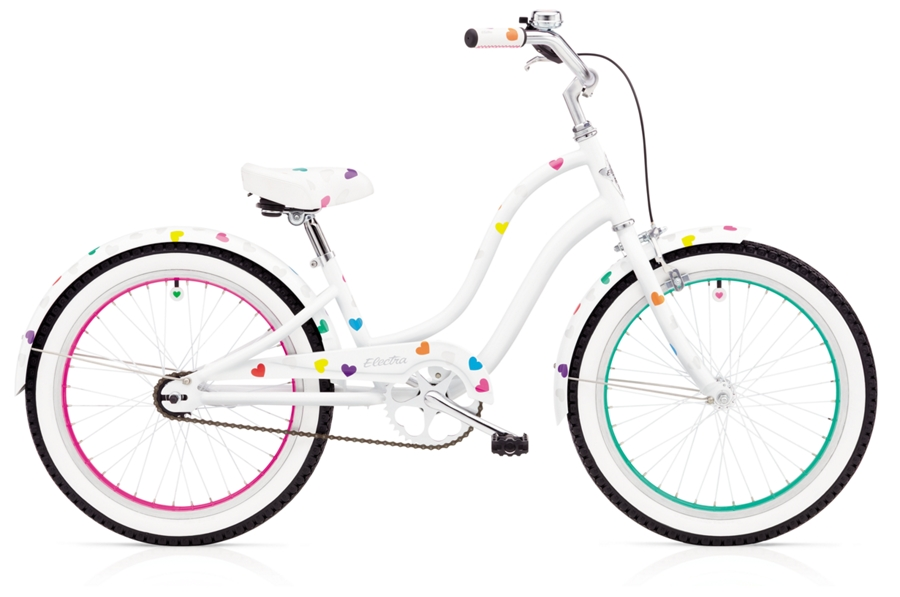 Electra Heartchya 1 20in Girls 20 wheel White - Electra Heartchya 1 20in Girls 20 wheel White