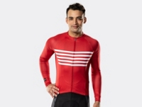Bontrager Trikot Circuit Long Sleeve XS Cardinal Stripe - Bike Maniac