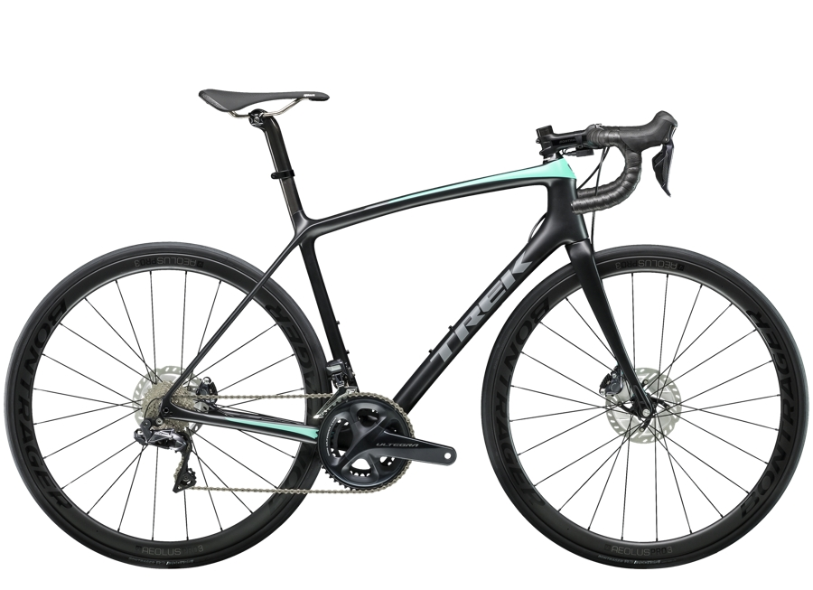 Trek Émonda SLR 7 Disc Womens 50 Matte Trek Black/Miami Green - Trek Émonda SLR 7 Disc Womens 50 Matte Trek Black/Miami Green