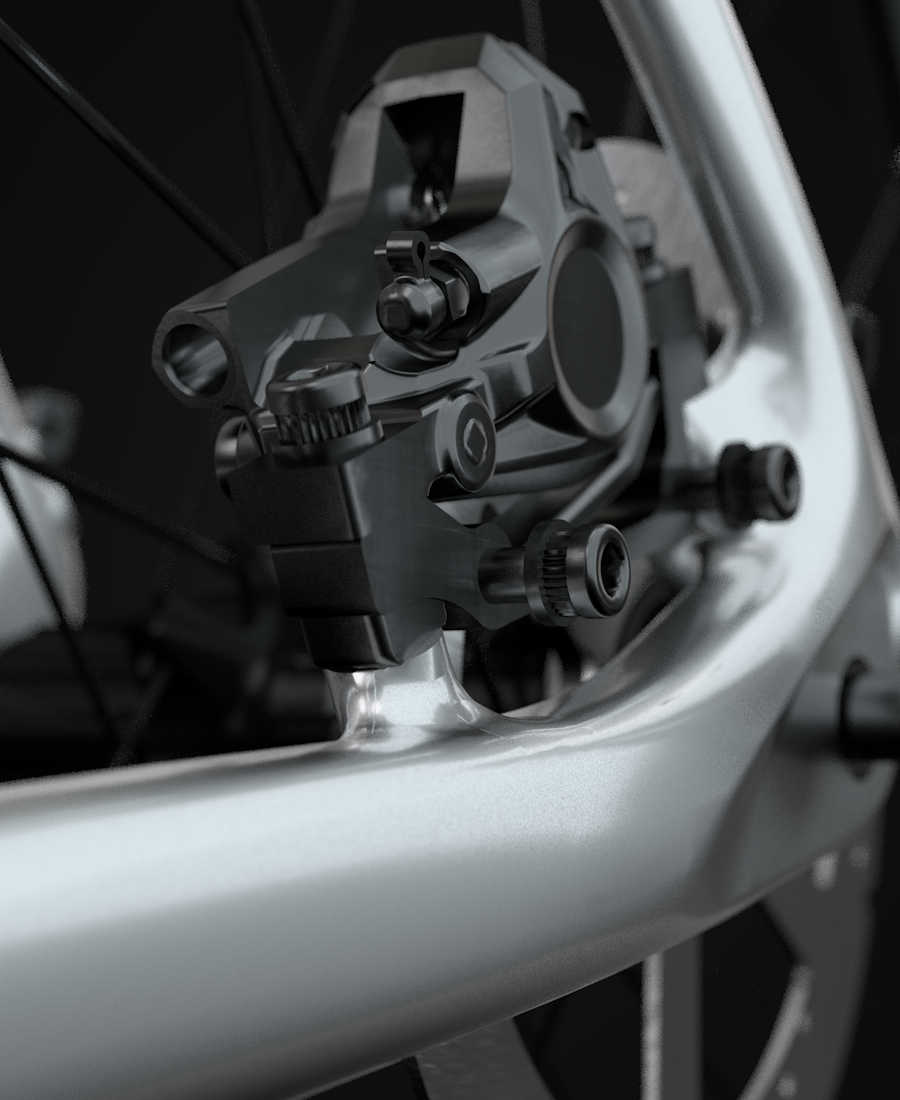 "Bikesalon - ROWER TREK #PROCALIBER 9.7 2X# 2017 KOŁO 29"" CZARNY - Feature Asset 304593 balanced post mount brake"