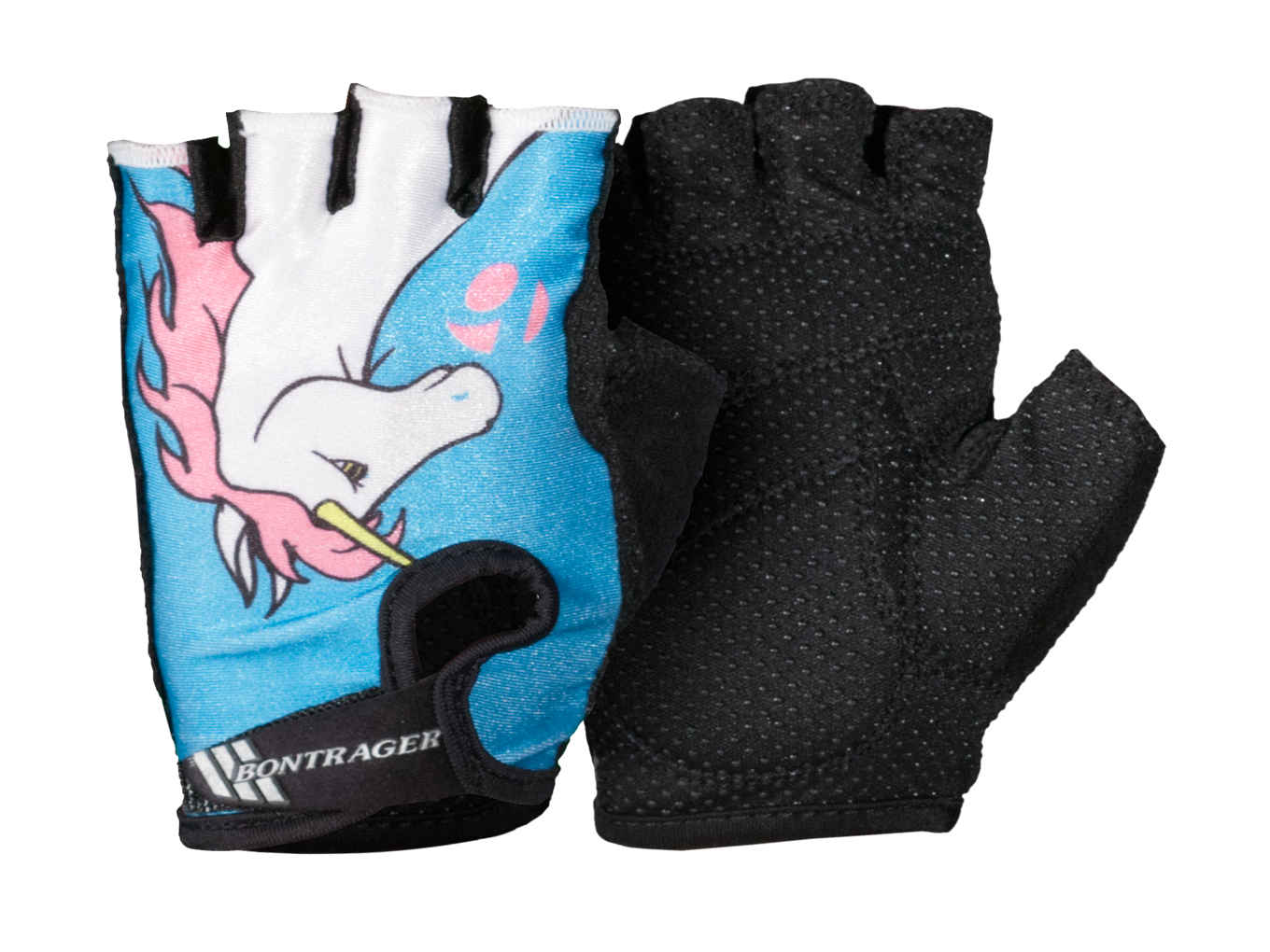 Ladies leather gloves blue - Bontrager Kids Glove
