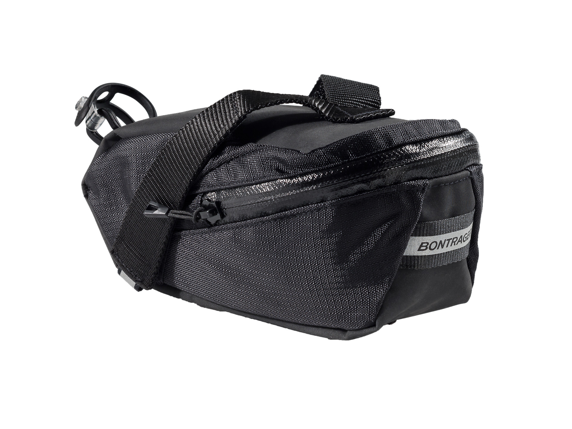 EIGO SADDLE BAG SEAT PACK SEAT BAG TOOL BAG WITH QUICK RELEASE FITTING BLACK//GREY