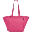 Cerise Waxed Canvas Basket Bag