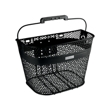 Black Linear QR Mesh Basket