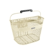 Cream Linear QR Mesh Basket