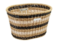 Basket Electra Plastic Woven Light Brown/Black/White