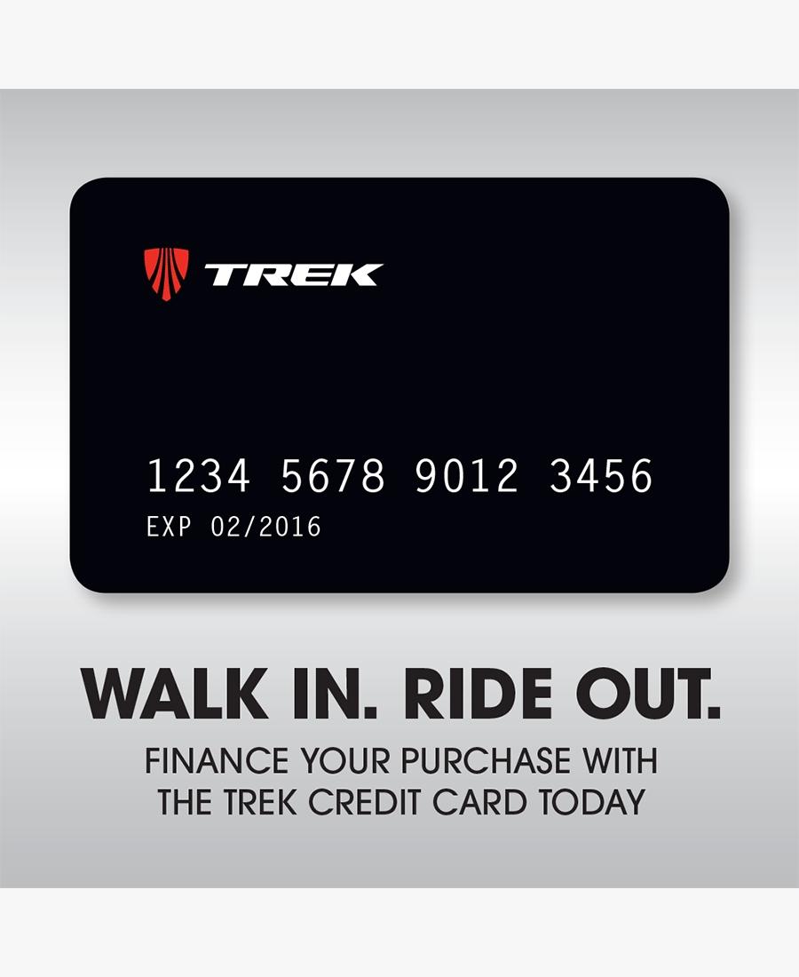 trek credit card walk in ride out