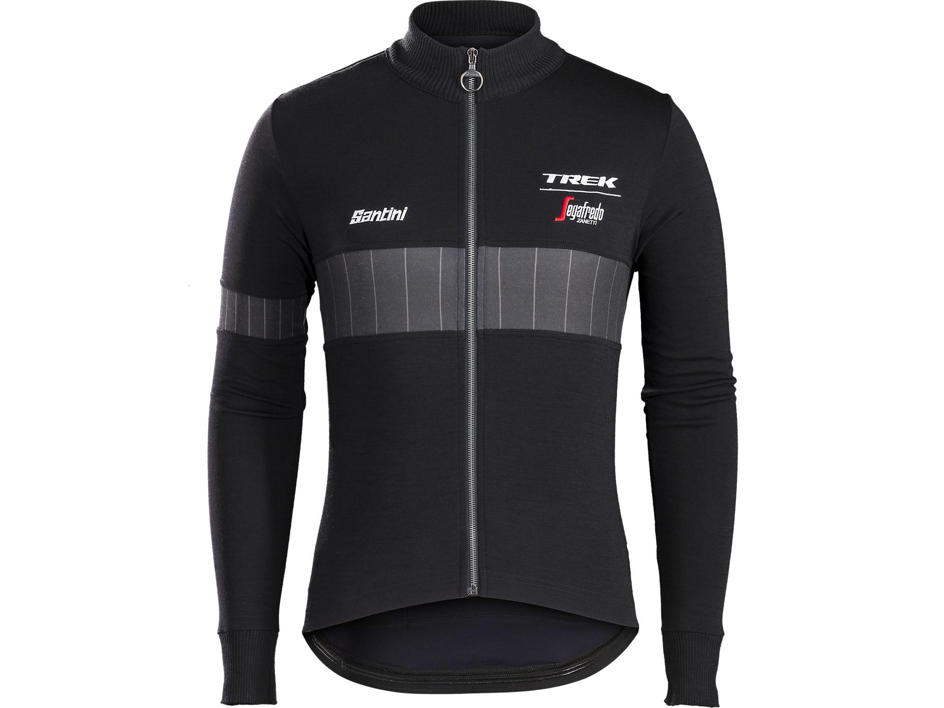 Santini Trek-Segafredo Icon Wool Long Sleeve Jersey  458367204