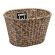 Electra Plastic Woven Basket Light Brown/Black