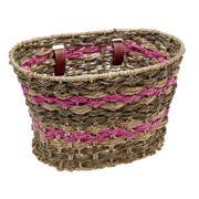 Electra Natural Espresso Pink Palm Frond Basket