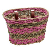 Electra Natural Latte Blush Palm Frond Basket