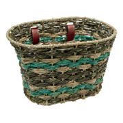 Electra Natural Espresso Seafoam Palm Frond Basket