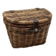Electra Rattan Basket w/Lid - Brown