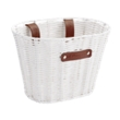 White Small Plastic Woven Basket